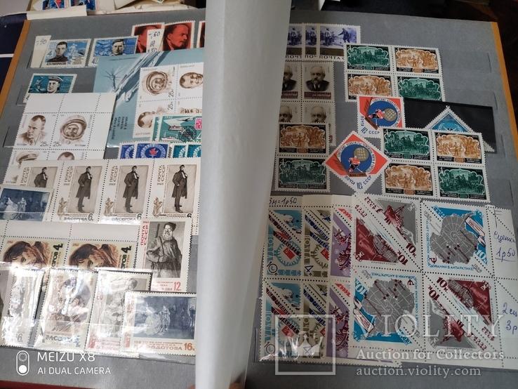 Большой кляссер с марками  и блокамиСССР+бонус, фото №11