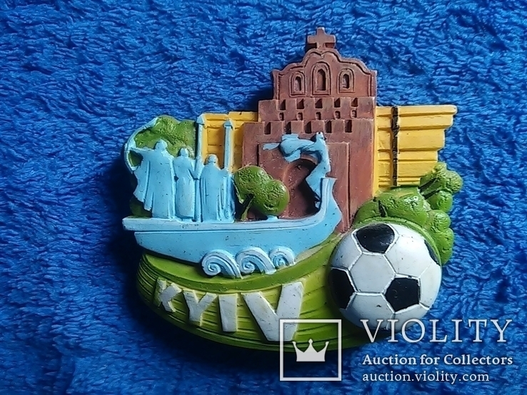 Сувенирный магнит: Kyiv  65Х5,5 см керамика, фото №4