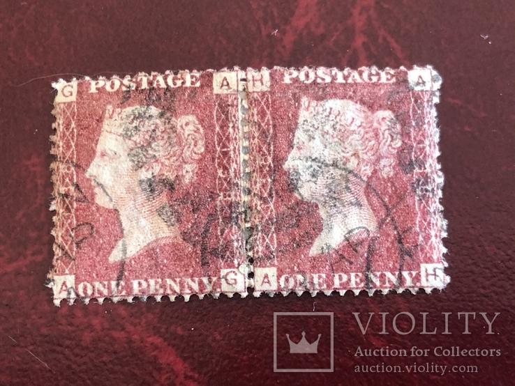 Сцепки марок Великобритании. Красный пенни., фото №6