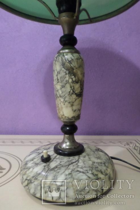 Настольная лампа  зеленый плафон, фото №6
