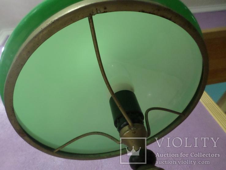 Настольная лампа  зеленый плафон, фото №11
