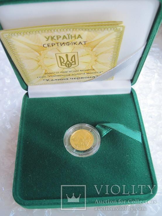 Калина червона 2 гривні НБУ 2010 рік Калина красная Ідеал Золото 999,9