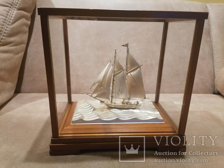 Парусник яхта серебро серебряная, фото №3