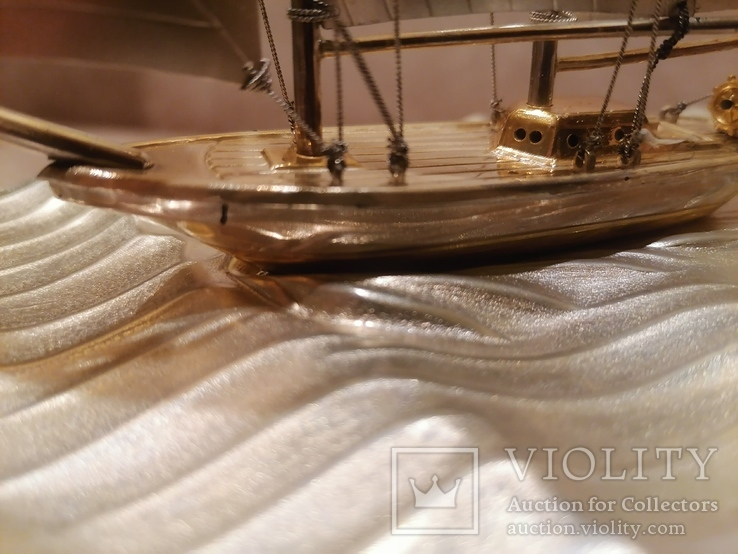 Парусник яхта серебро серебряная, фото №5