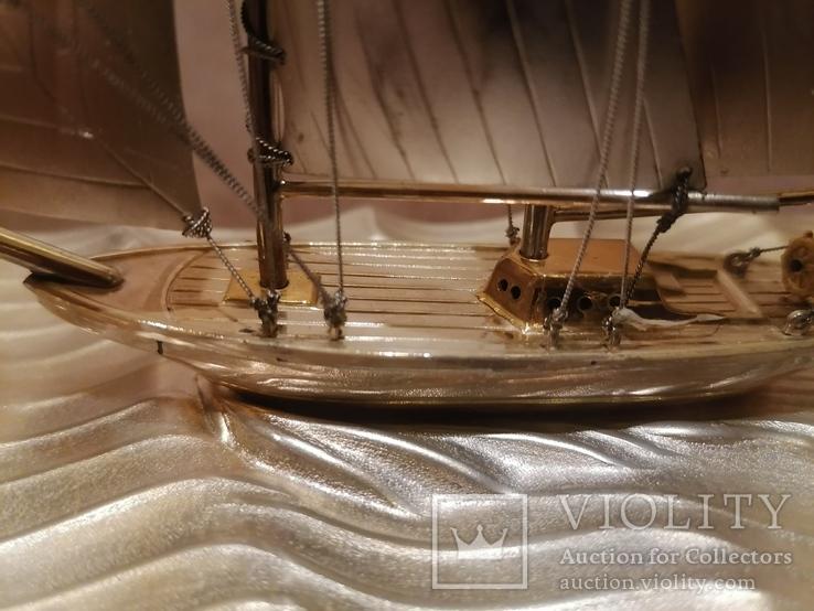 Парусник яхта серебро серебряная, фото №6