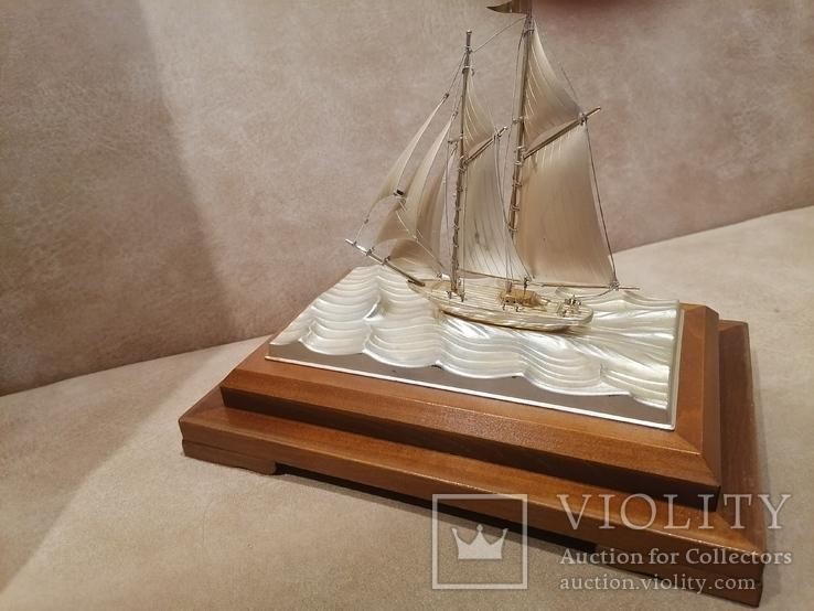 Парусник яхта серебро серебряная, фото №7