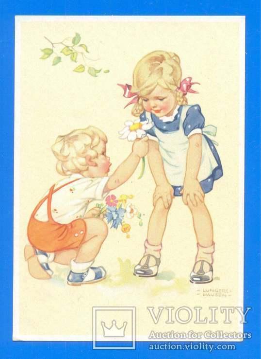 Дети Первый цветок ГДР 1952, фото №2