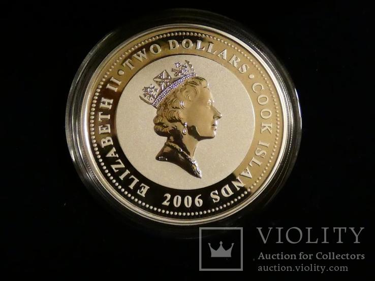 Классические спидстеры 30-х годов - Бугатти - серебро, унция, 2 доллара, фото №4