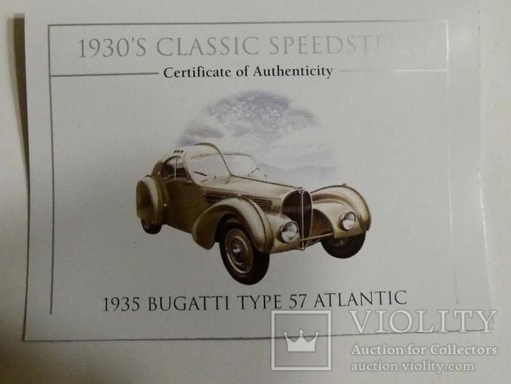 Классические спидстеры 30-х годов - Бугатти - серебро, унция, 2 доллара, фото №6