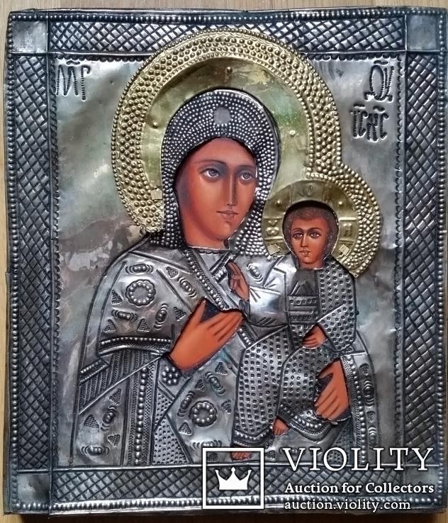 Ікона Богоматір, латунь 31х27 см, фото №2