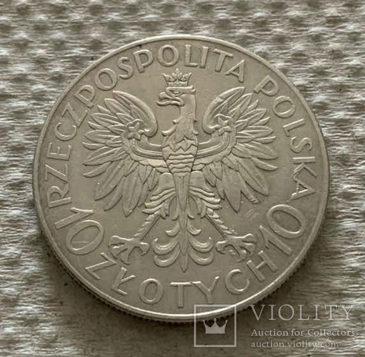10 Злотых 1933 г., Romuald Traugutt, фото №3