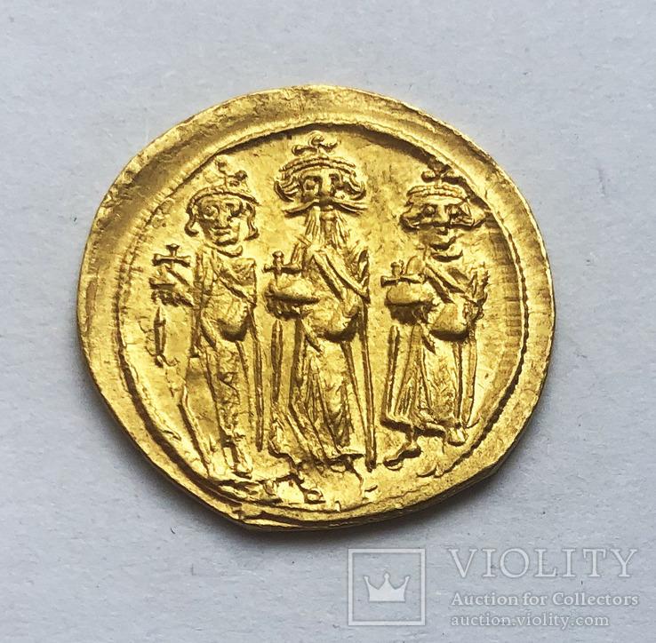 Солид Гераклиуса. Византия.