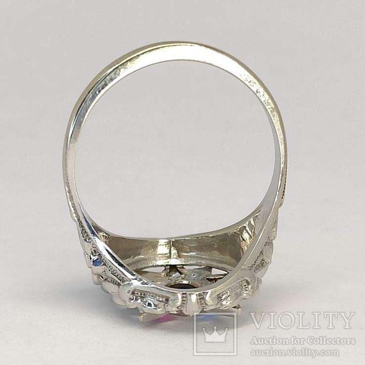 Масонское дамское золото кольцо, фото №5