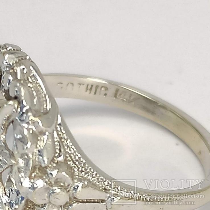 Масонское дамское золото кольцо, фото №7