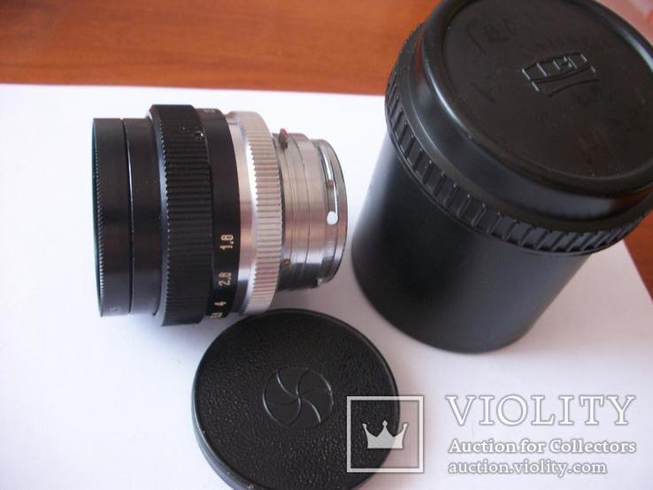 Объектив гелиос-103 к-8х 40x0,5, передняя крышка,футляр, фото №4