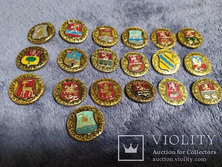 19 значков из серии Золотое кольцо России, фото №2