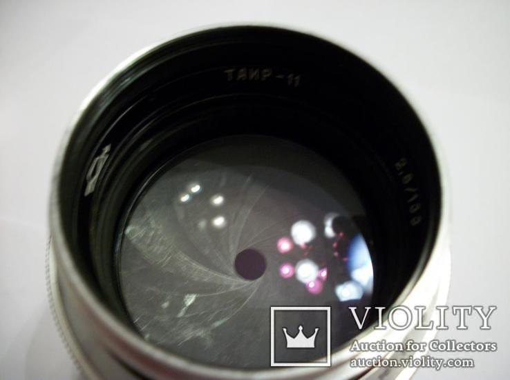Объектив таир-11,гран-при брюссель [белый-luxe]футляр,крышки, фото №5