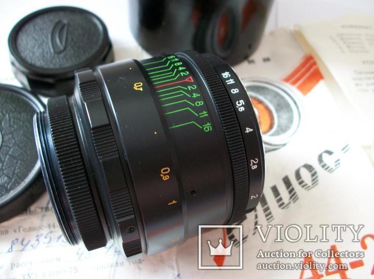 Объектив гелиос 44-2 , м-42 оригинальный заводской комплект, фото №2