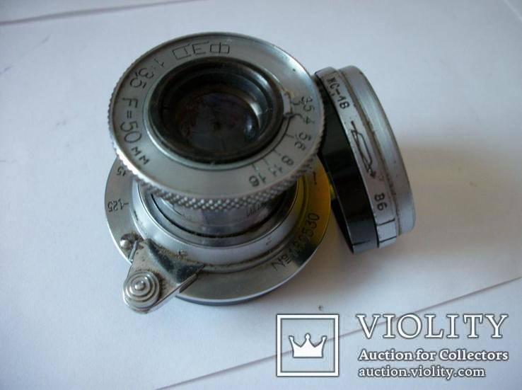 Объектив фэд 1:3,5 , f=50mm,оригинальные светофильтр и задняя крышка[футляр], фото №3