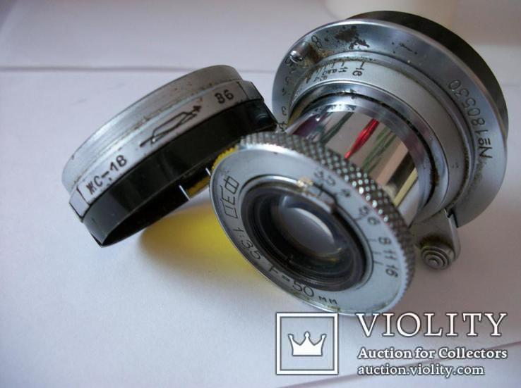 Объектив фэд 1:3,5 , f=50mm,оригинальные светофильтр и задняя крышка[футляр], фото №4