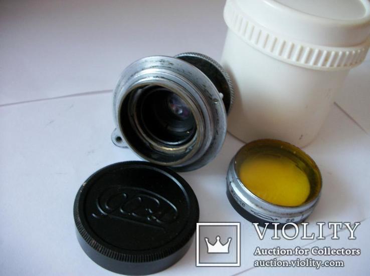 Объектив фэд 1:3,5 , f=50mm,оригинальные светофильтр и задняя крышка[футляр], фото №6