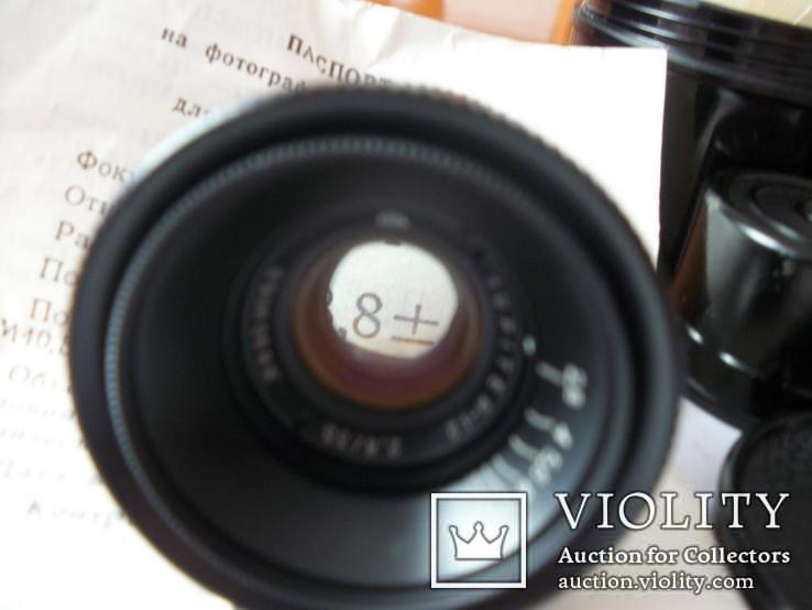 Объектив юпитер-12, new [м-39,черный]паспорт, ориг.футляр,обе крышки, фото №6