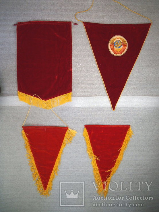 Вымпел бархатный СССР (4 штуки), фото №6