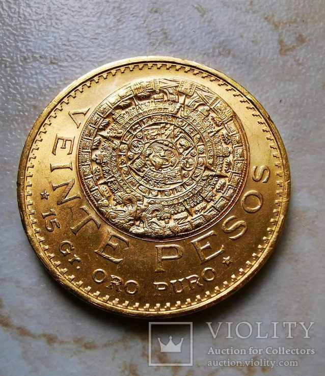 Мексика 20 песо, 1959. тираж 13000. R, фото №2