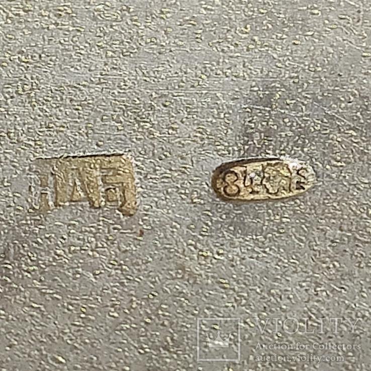 Портсигар с чернью. 84пр., фото №8