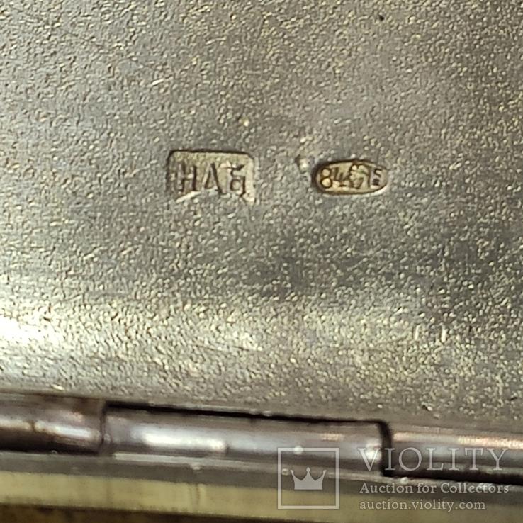Портсигар с чернью. 84пр., фото №11