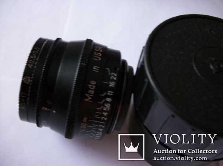 Объектив юпитер-8 [черный] made in ussr, no-0171011 [футляр и светофильтр 40,5x0,5], фото №2