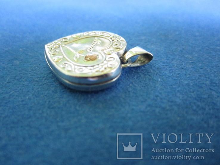 Кулончик под фотографию серебро., фото №4