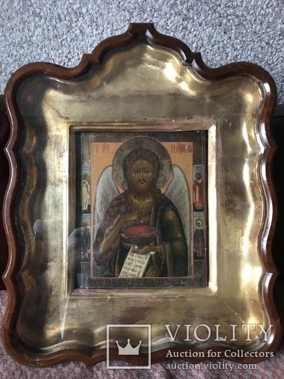 Икона Святой Иоанн с предстоящими, фото №3