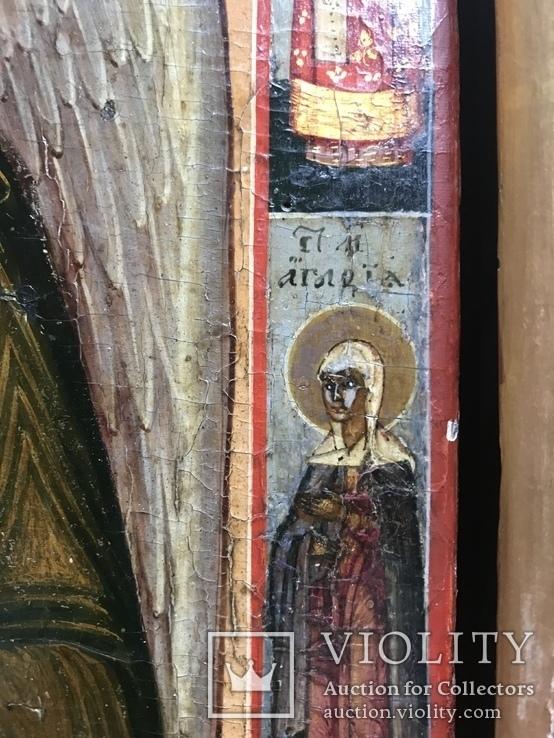 Икона Святой Иоанн с предстоящими, фото №4