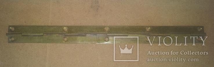 Старинная рояльная  петля от шкатулки, фото №2