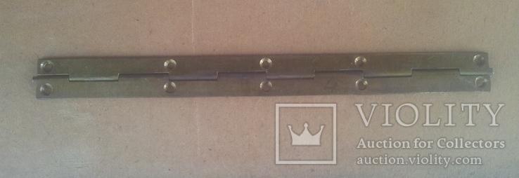 Старинная рояльная  петля от шкатулки, фото №3