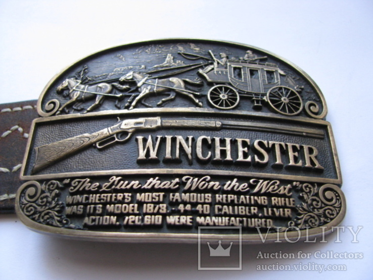 Пряжка Winchester.Exclusive Edition 1979 No 2234. с ремнем, фото №13