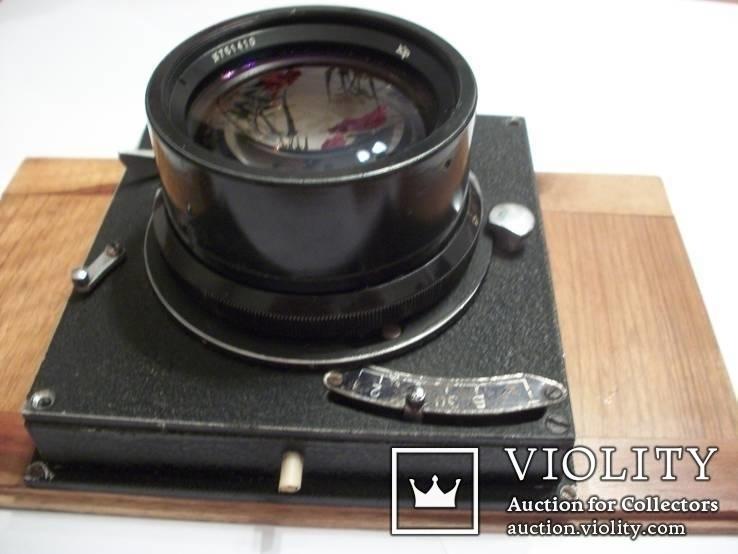 Объектив индустар-37 вместе с затвором с деревянной камеры, фото №2