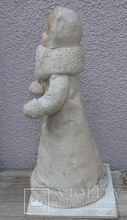 Снегурочка папье-маше,рост 34 см, фото №4
