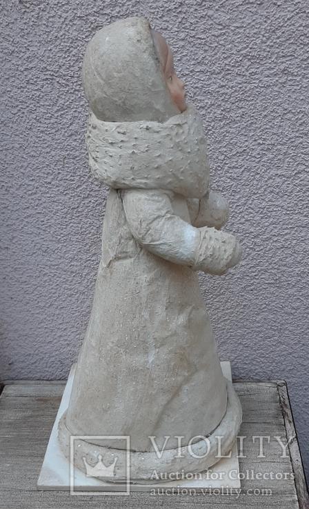 Снегурочка папье-маше,рост 34 см, фото №6