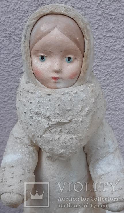 Снегурочка папье-маше,рост 34 см, фото №7