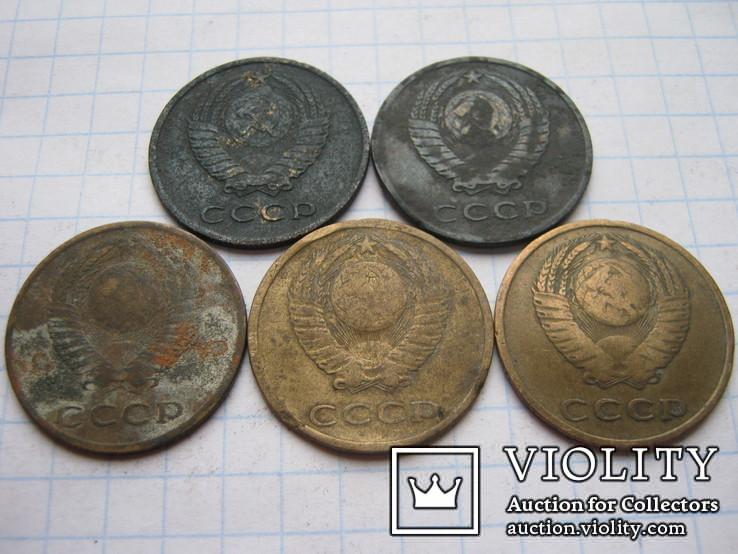 3 копейки 1966г.5шт., фото №3