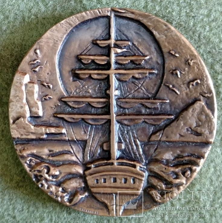 Настольная медал Головнин 1977г., фото №3