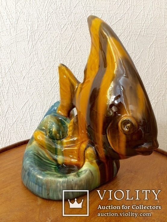Рыба,Гжель,облившая керамика., фото №3