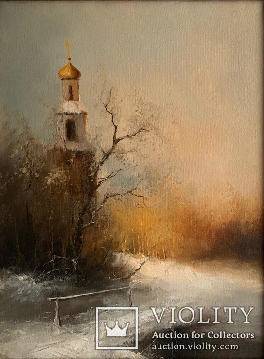 Картина ''Тихая обитель'' в раме Б.Шехунов
