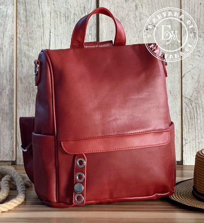 Стильный бордовый рюкзак