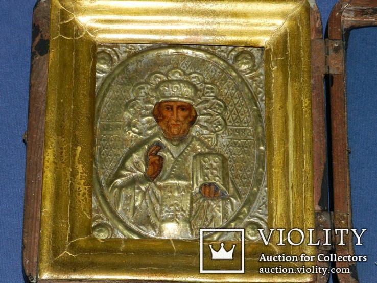 Миколай чюдотворець 20см на 17см товщ 5.5 см, фото №3