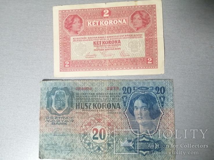 2 кроны и 20 крон 1913, фото №5