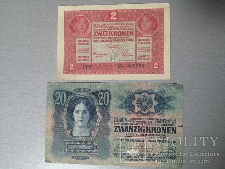 2 кроны и 20 крон 1913, фото №2