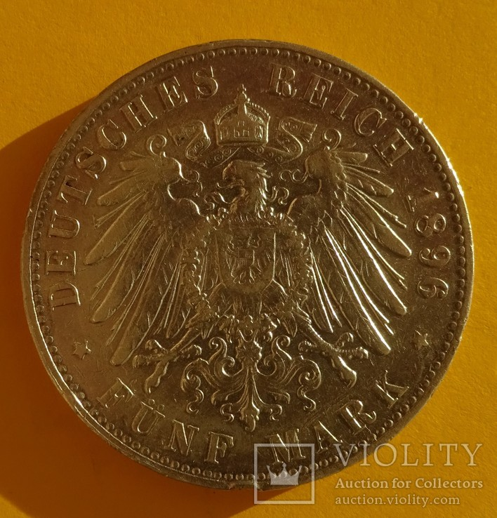 5 марок, 1896 год, Гамбург,, фото №6